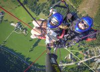 Tandem-Paragleitflug vom Michaelerberg in der Region Gröbming