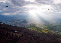Tandem-Thermikflug vom Gaisberg über Salzburg Stadt