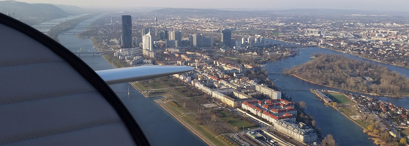 Rundflug über Wien